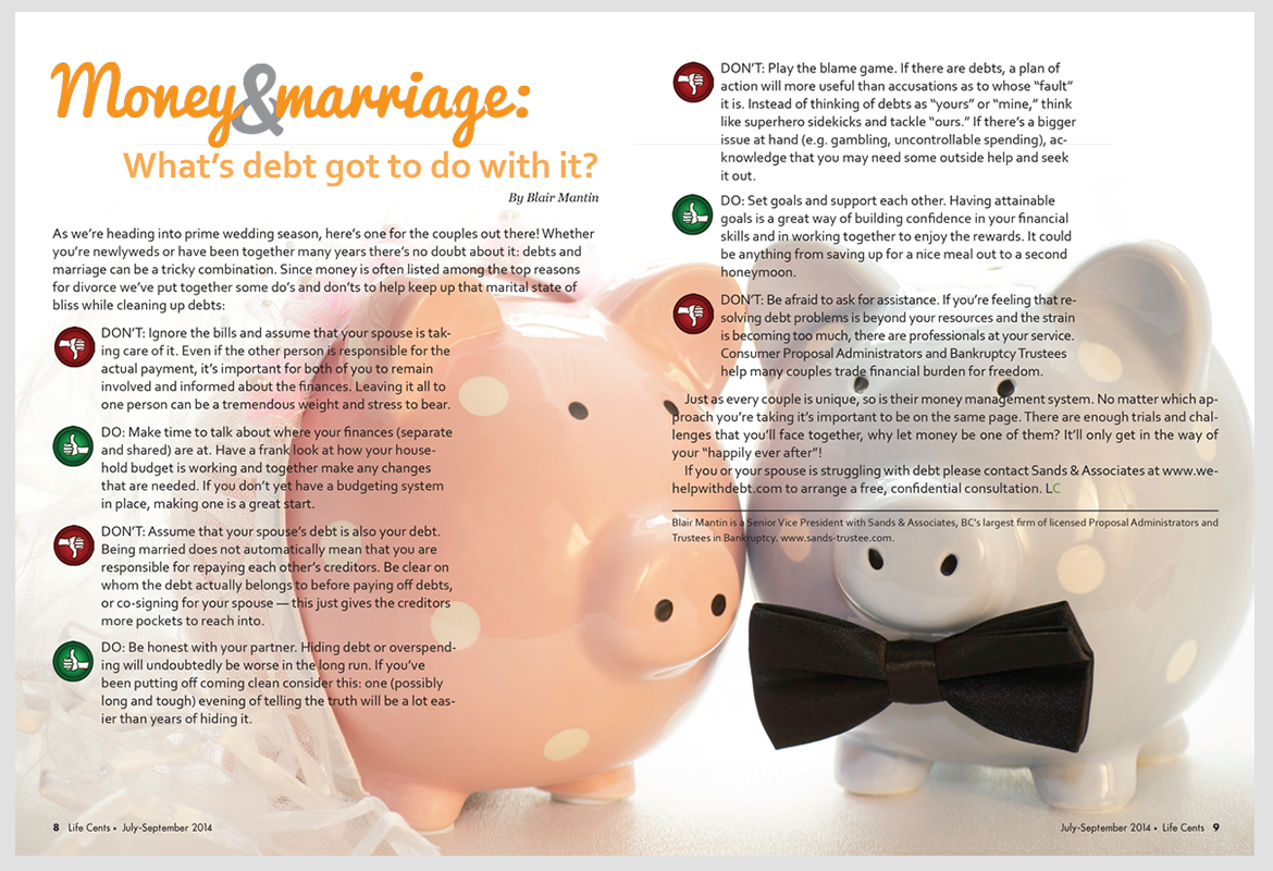 Life Cents Magazine - Money & Marriage Article