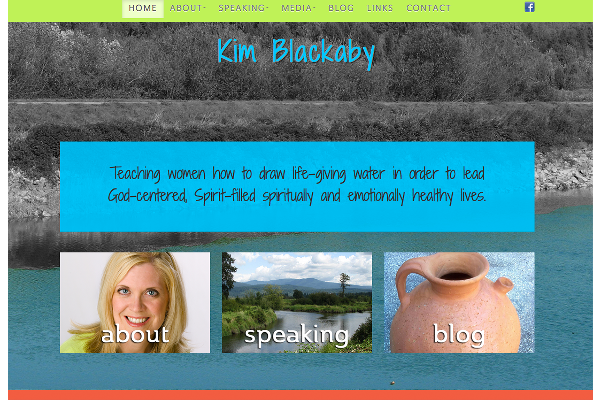 Kim Blackaby - Website