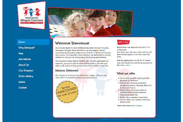 Vancouver Bilingual Preschool - Website
